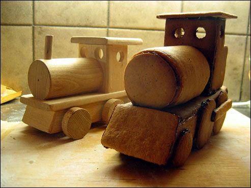 wood original and gingerbread copy