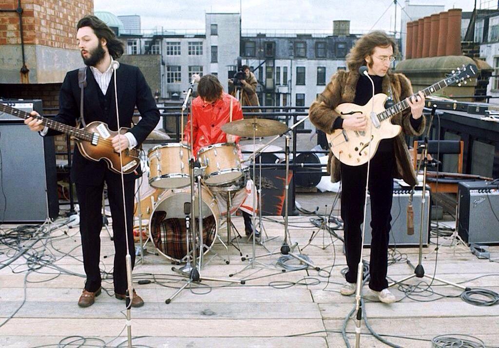 Rooftop gig, Apple Building, Savile Row, Mayfair London. 30th January 1969