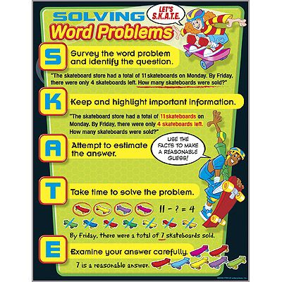 Solving Word Problems Learning Chart TRENDenterprises Fun - make a survey in word