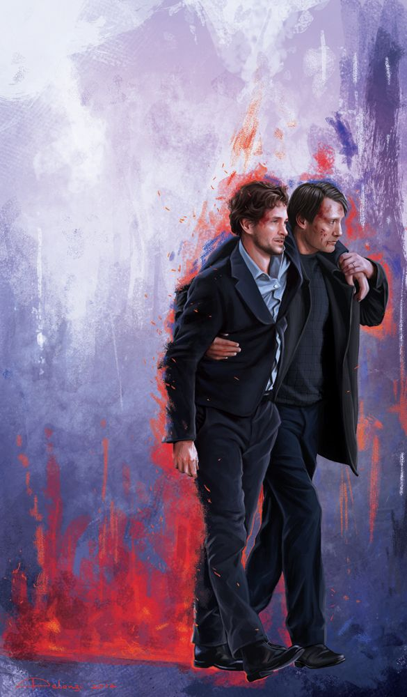 """""""Legato"""" Last week, I was in Florence and I had the luck to see some filming of Hannibal Season 3. This painting has been inspired by some photos shot during a scene set near the Uffizi Gallery. The..."""