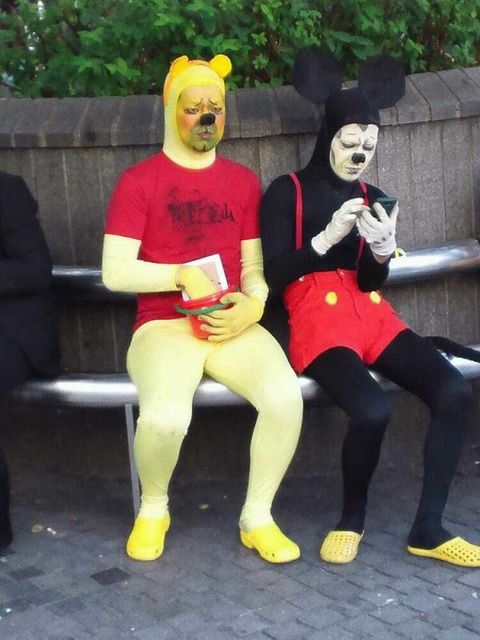 Pooh Mickey Cosplay Funny Funny Pictures Funny Memes