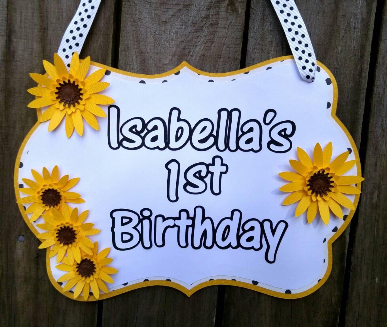 Sunflower Birthday, Sunflower Party Decorations, Sunflower Baby ...
