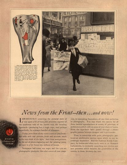 Now And Then Advertising Photograph >> Eastman Kodak Ads Ca 1918 1918 Foursquare Duplex 2 By 4