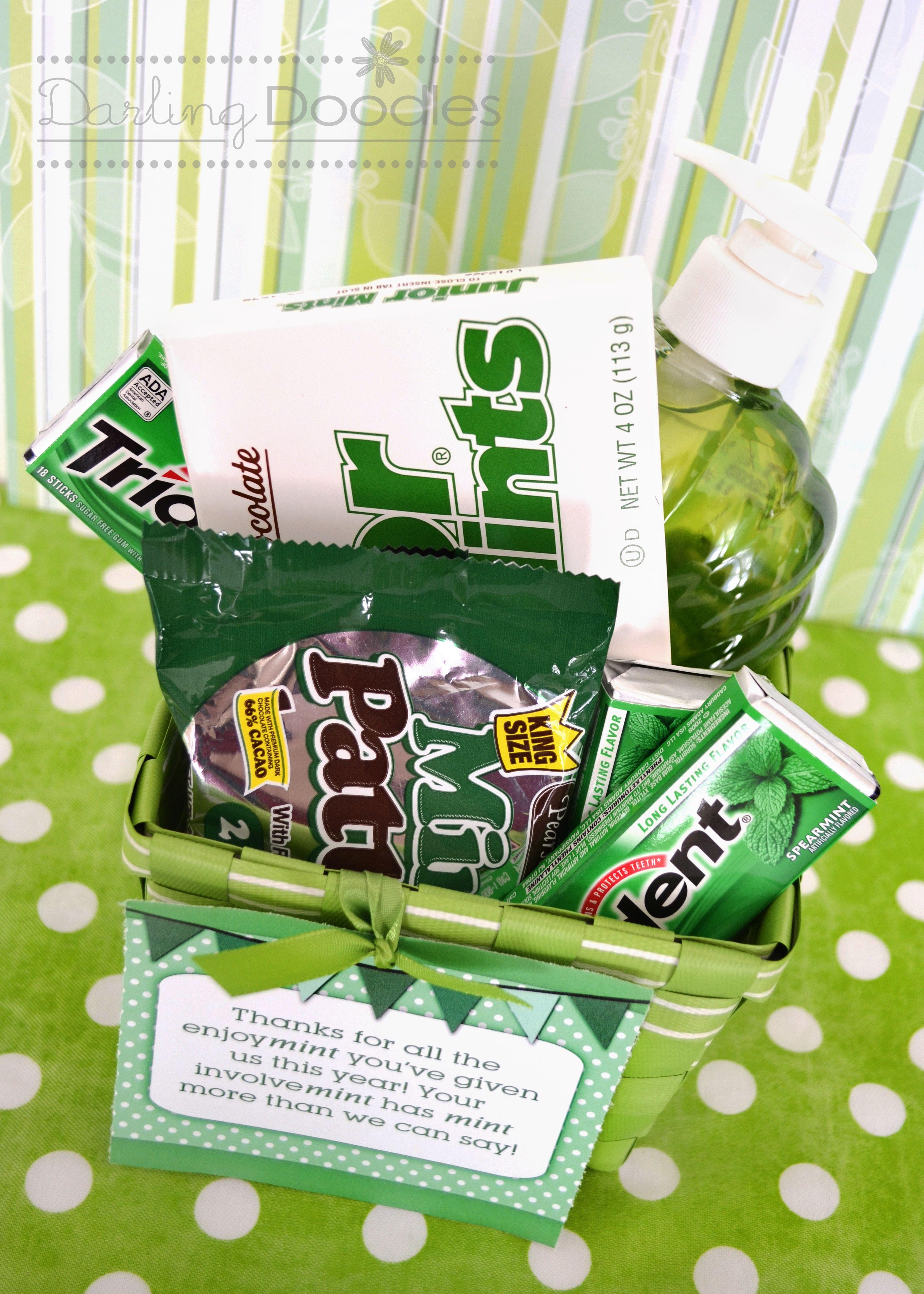 Mint gift basket idea from darling doodles gift ideas pinterest mint gift basket idea from darling doodles negle Images