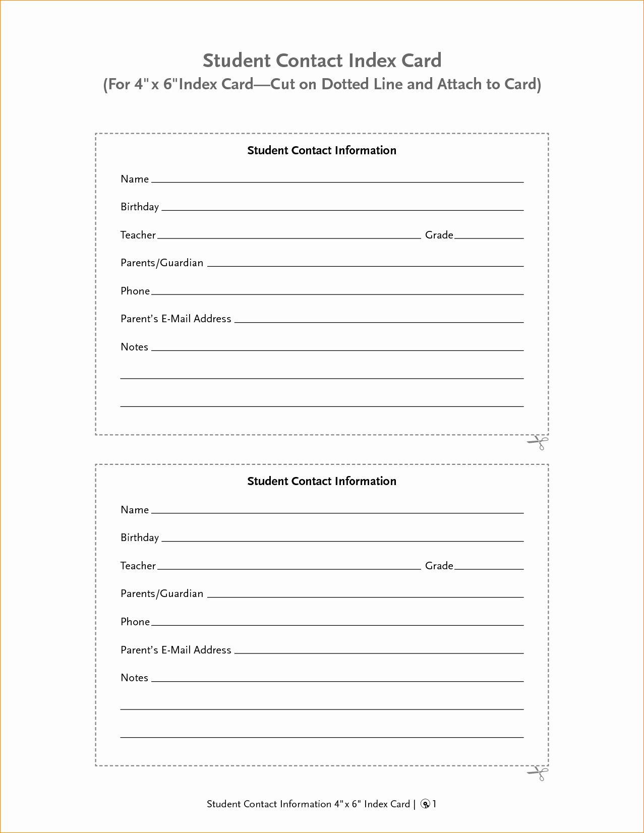 Contact Information Form Template Word Fresh Contact Information Form Template Portablegasgrillweber Contact Card Template Note Card Template Contact Card