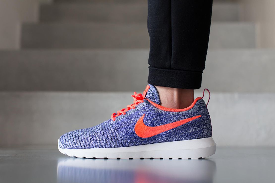 c56c543ffa24c Nike unveils a new vibrant colorway of its Roshe Flyknit for the upcoming  warmer seasons. The popular runner is constructed from a seamless knitted  upper ...