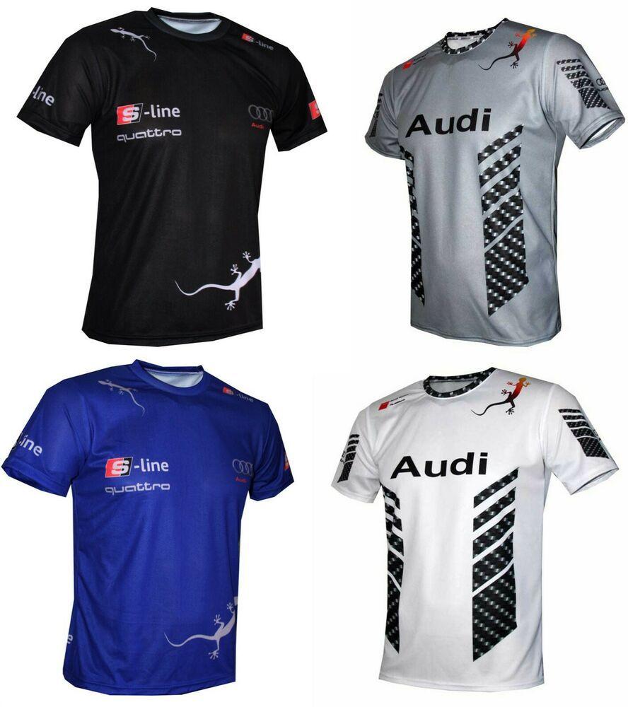 Audi tshirt camiseta maglietta Sline RS3 RS4 RS6 S4 Q3 E