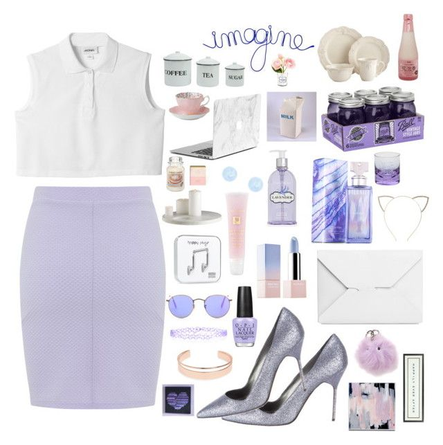 """#26 omfg liac, purple, white, so pastel, i think look like one of Chanel #1 outfits, ili  #screamqueens"" by meowsofi on Polyvore featuring Miss Selfridge, Monki, Sephora Collection, Manolo Blahnik, J.W. Anderson, OPI, Calvin Klein, Crabtree & Evelyn, Lancôme and Leith"