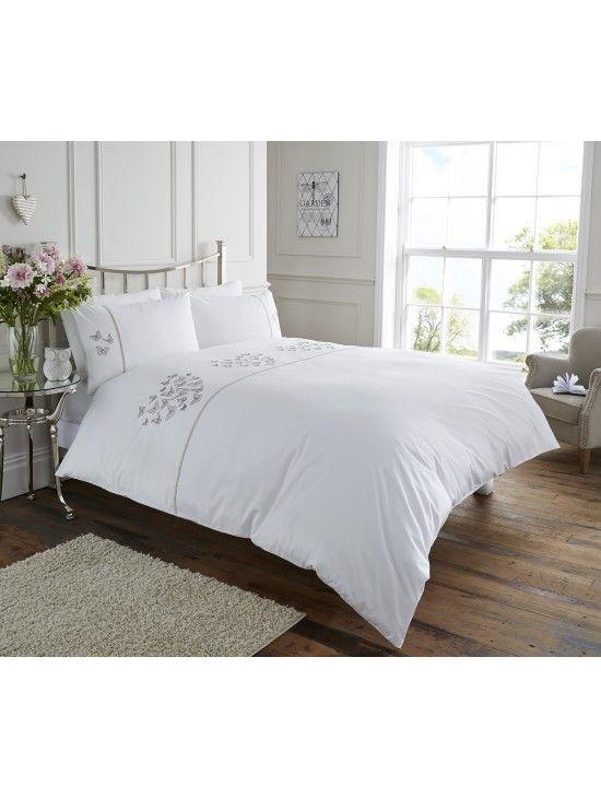 Life From Coloroll Ava Erfly Heart Duvet Set White Ponden Homes Homedecor Interiors