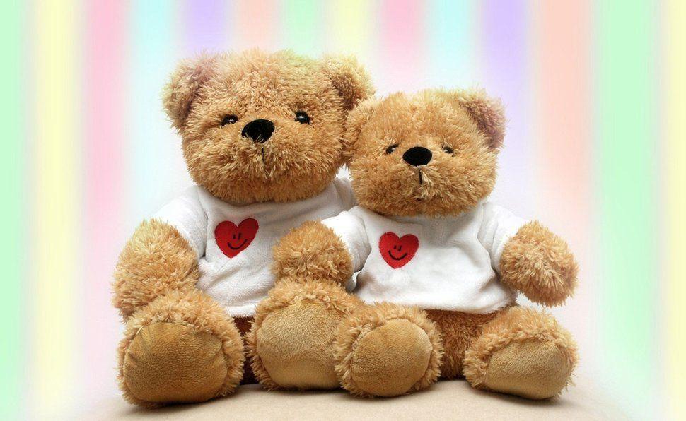Espíritus, suave, juguetes de peluche, osos de peluche, corazones wallpaper