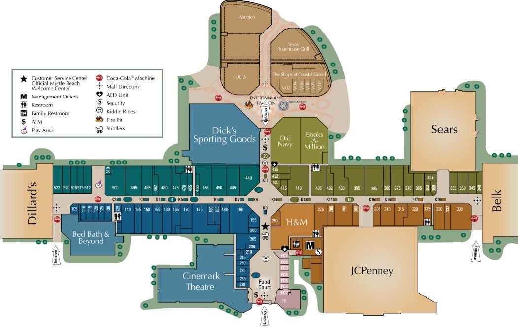 Coastal Grand Mall shopping plan (With images) Myrtle