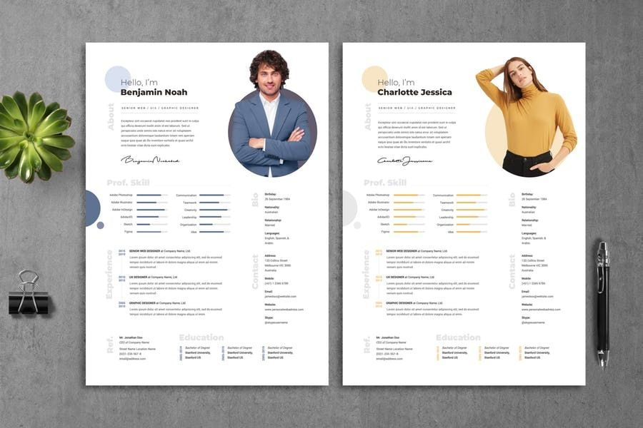 Resume Template Instant Download Professional Resume Etsy Cv Template Resume Template Professional Resume Design Template