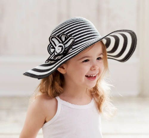 2ae1a83e6c620 Details about Mud Pie Honey's Bees Black White Straw Sun Hat Girl S ...
