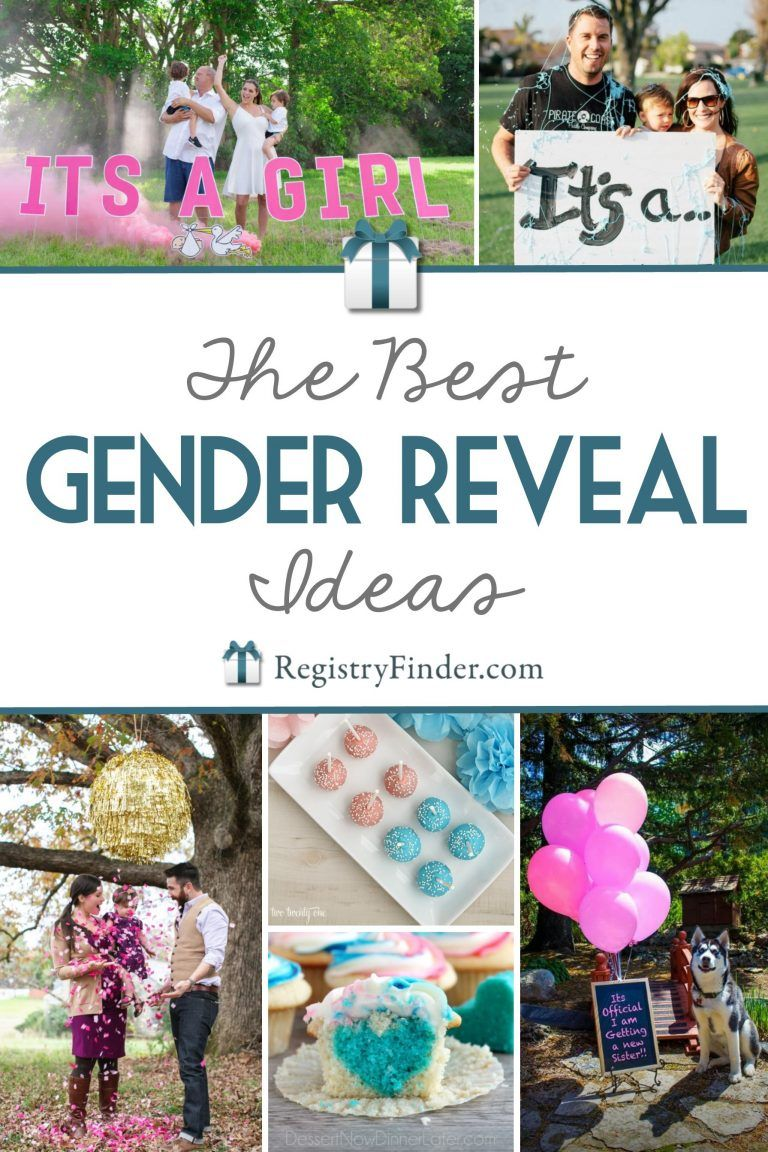 16 Awesome Gender Reveal Ideas From Registryfinder Com Gender Reveal Party Theme Reveal Ideas Gender Reveal