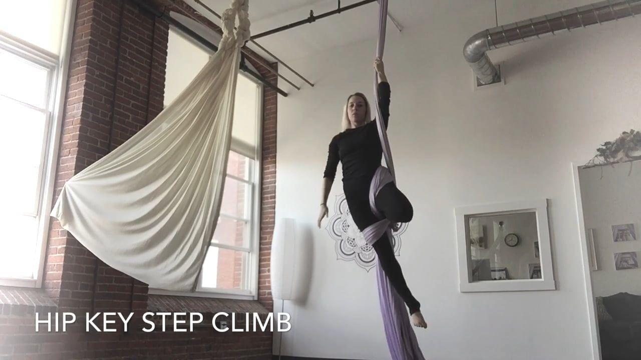 Hip Key Step Climb. Aerial Silks Fitness Tutorials Online ...
