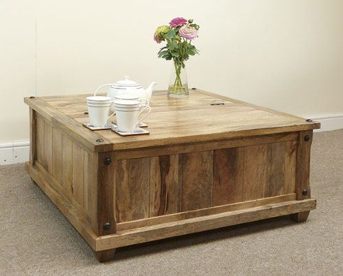 Baku Light Mango Storage Trunk Coffee Table Amazoncouk Kitchen
