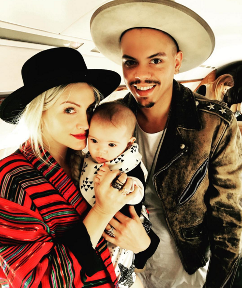 Ashlee Simpson, Evan Ross and their 6 month old daughter Jagger (February 4,
