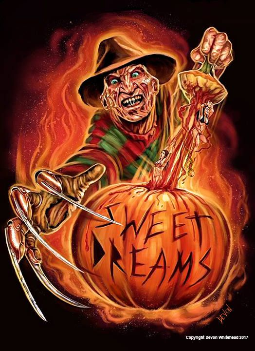 Freddy Halloween Art Print | Etsy