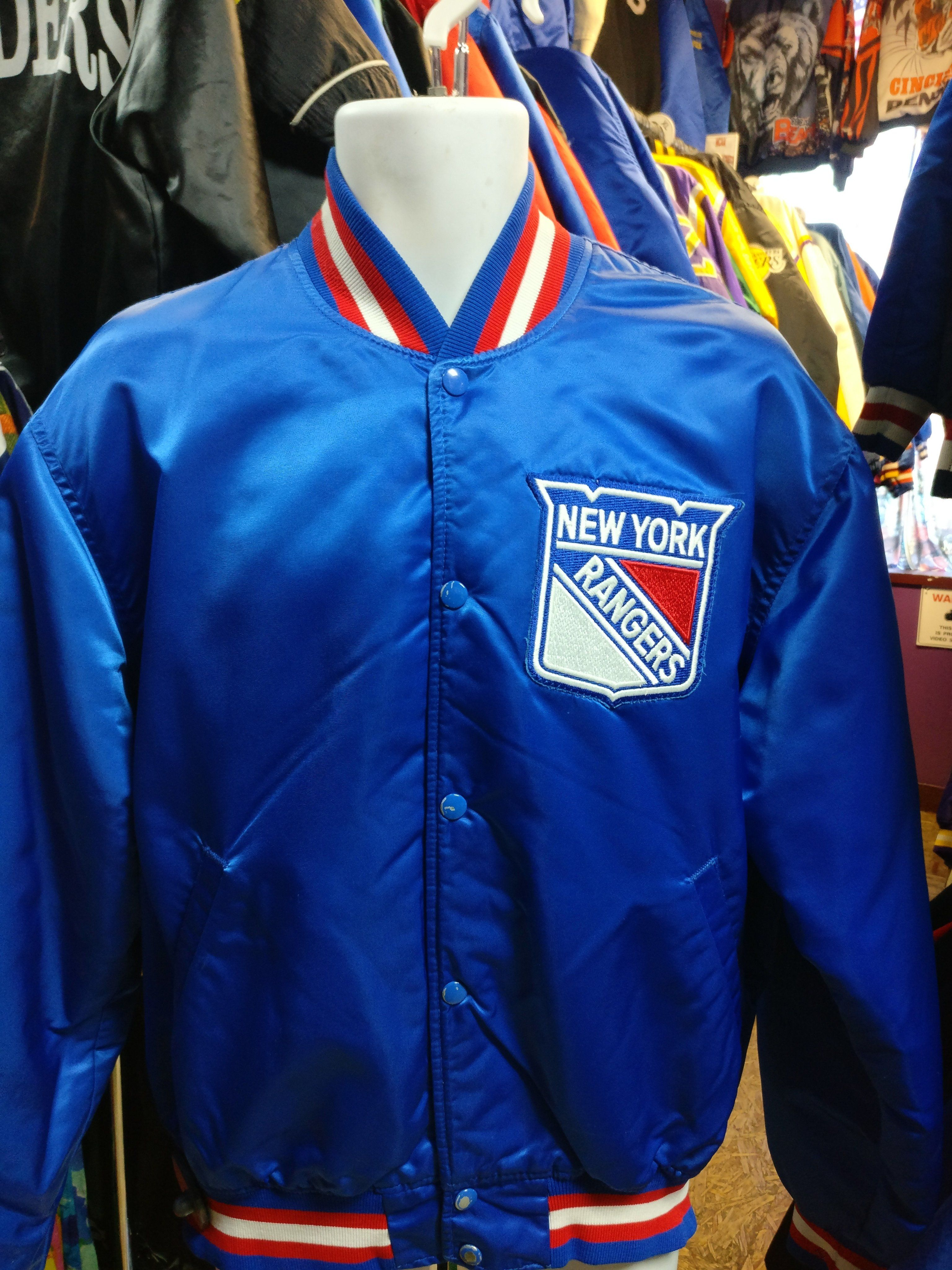 fa5fcabf6 Vintage 80s NEW YORK RANGERS NHL Starter Nylon Jacket XL