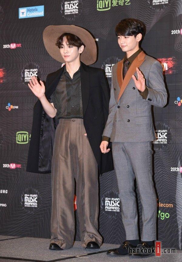 151202 SHINee Key and Minho - 2015 Mnet Asian Music Awards