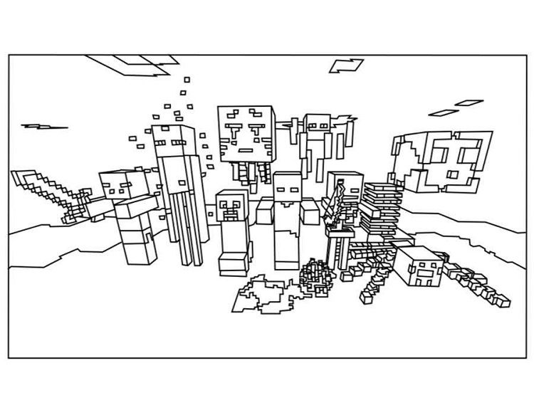 Minecraft Coloring Pages All Mobs Minecraft Coloring Pages Monster Coloring Pages Free Coloring Pages