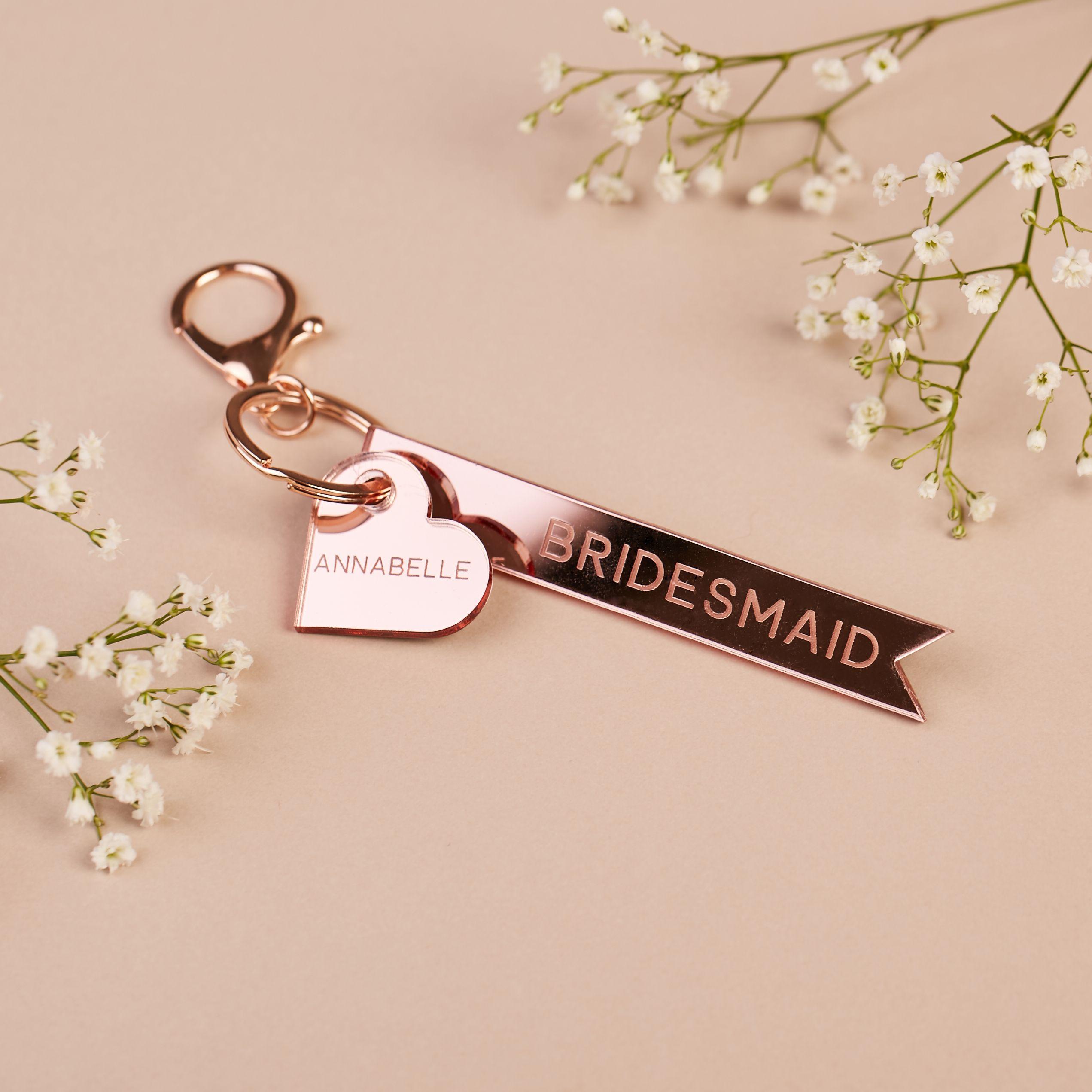 Bridesmaid Personalised Keyring in 2021 | Bridesmaids personalized,  Bridesmaid proposal gifts, Bridesmaid proposal