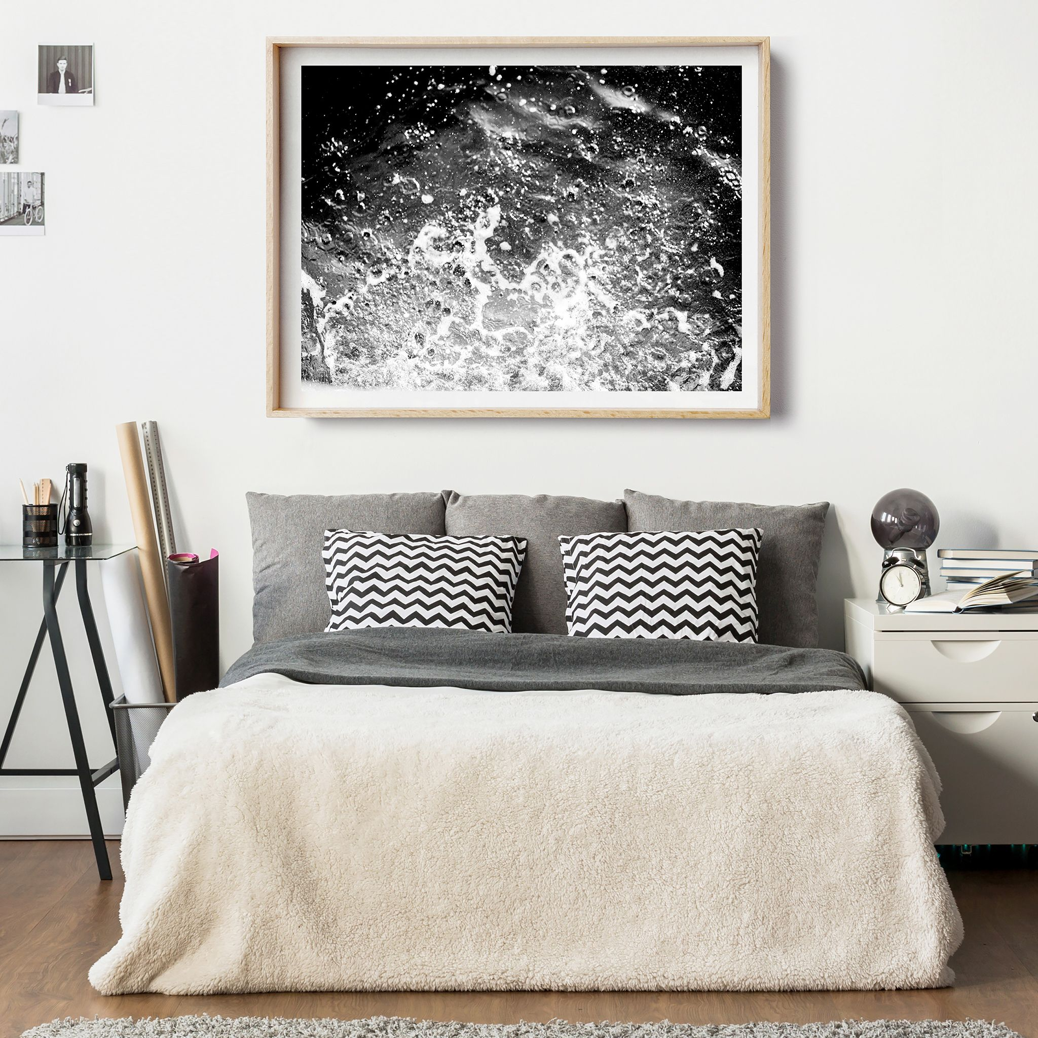 Ocean Life II - Monochrome tones of ocean waves, crashing the shore, so bold and striking. I love this print, perfect for black and white interiors.Photographic Art - Framed Wall Art - Coastal Decor - Nature Landscape Art Print. Nepal Mountains I - Nepal Travel Photography. Affordable Art