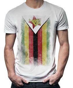 Zimbabwe Faded Flag Mens T Shirt Tee Top Zimbabwean Shirt Football Jersey Gift Mens Tshirts Tee Shirts T Shirt