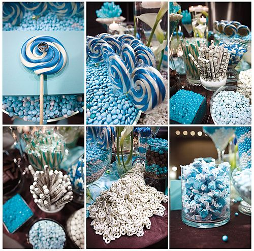 Candy Bar For A Baby Boy Baby Shower Could Easily Be Done With Pink