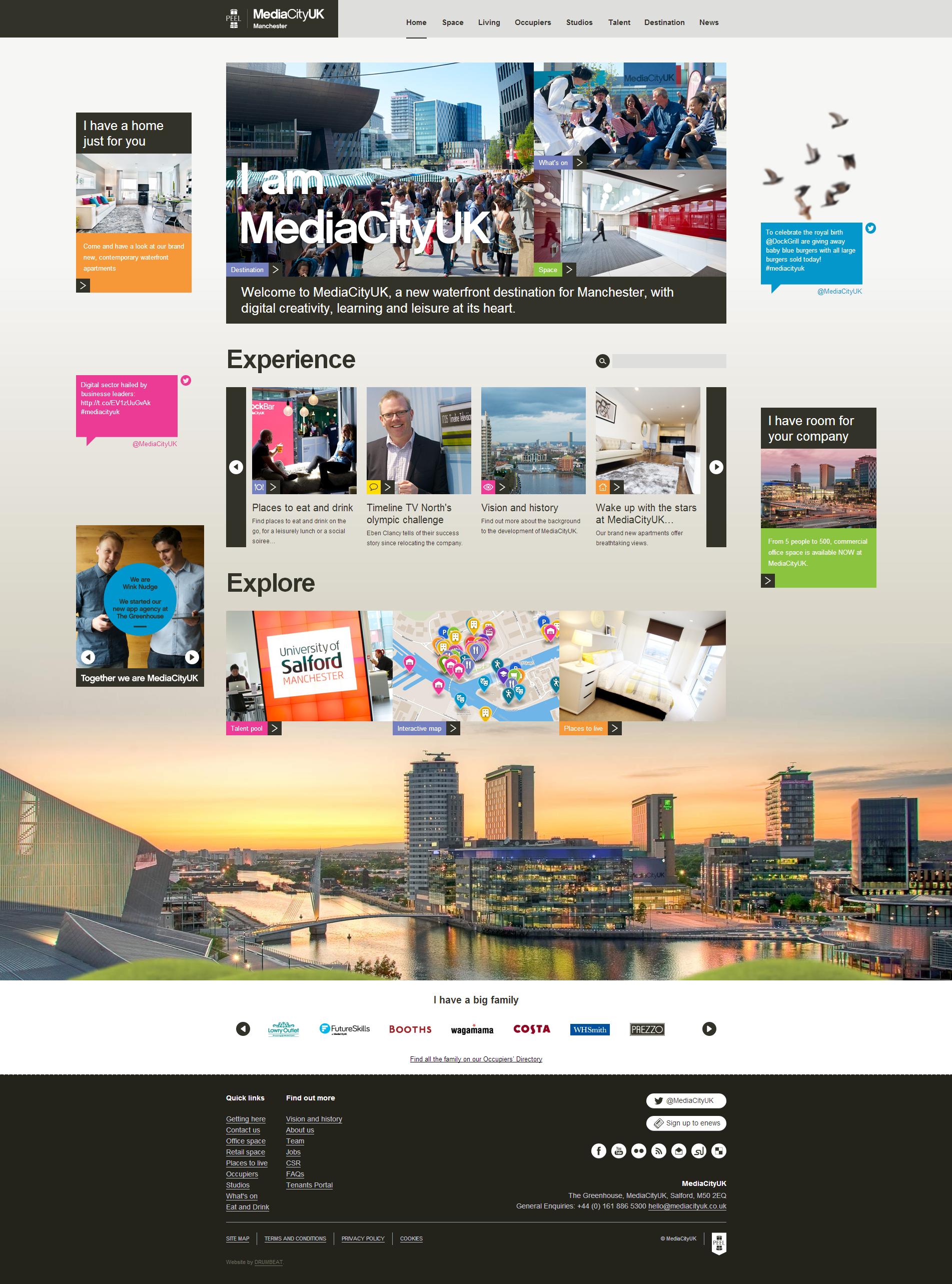 New Media City Website By Drumbeat Creative New Media Website Design Web Design