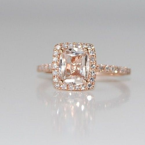 Fabulous Rose gold engagement rings Rose gold engagement rings with peach sapphire u Top Fashion Stylists