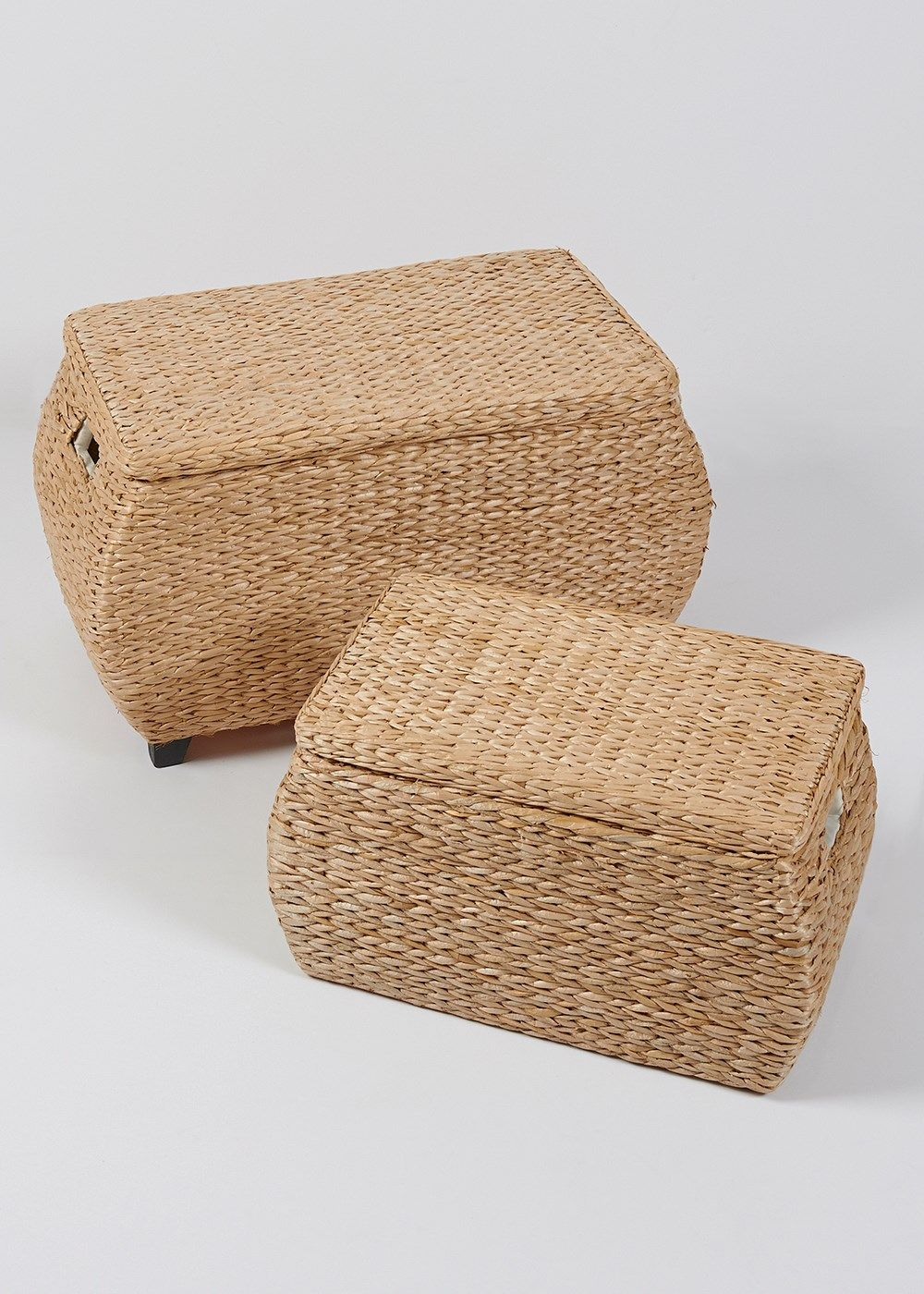 Set Of 2 Natural Rush Storage Trunks Part 87