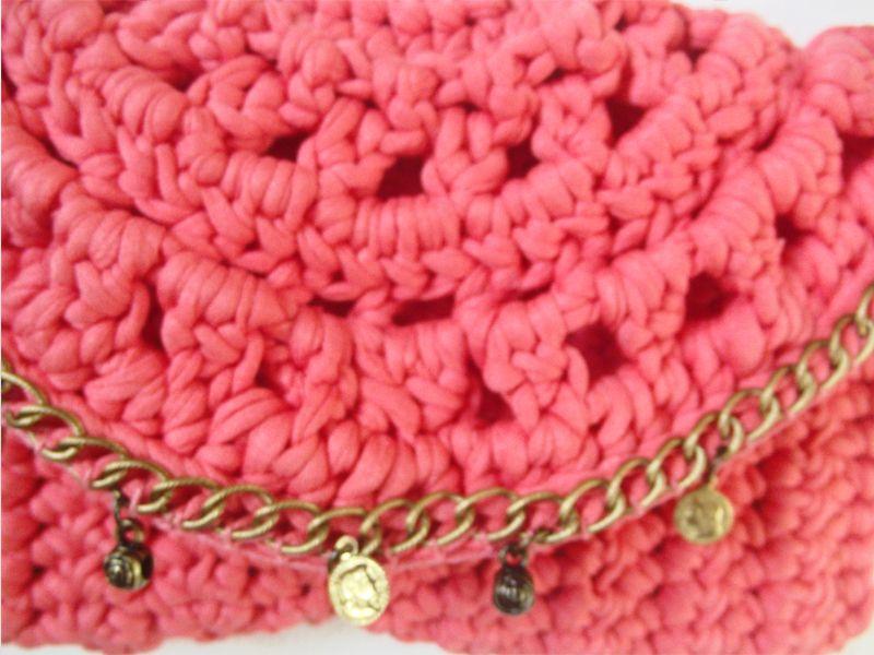 Bolsa / handbag / clutch / fio de malha / trapillo / t-shyrt yarn / handmade
