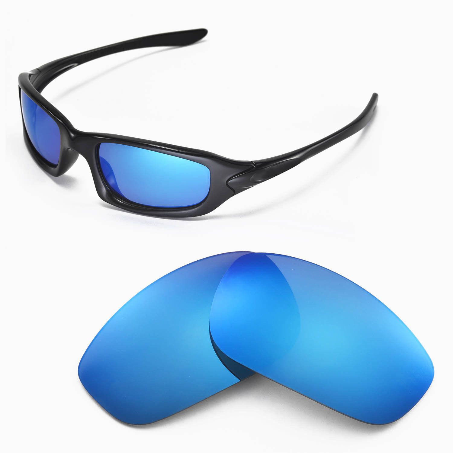 f5f5a89b2b Wl Polarized Ice Blue Replacement Lenses For Oakley Fives 4.0 Sunglasses