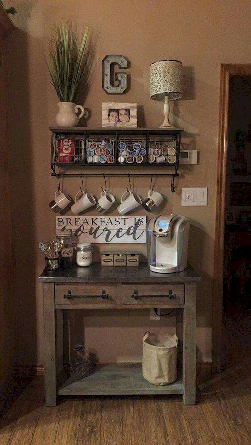 90 Amazing Small Dining Room Decor Ideas Coffee bar home