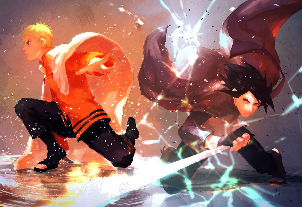 Tags Fanart Naruto Uzumaki Naruto Uchiha Sasuke Pixiv Fanart