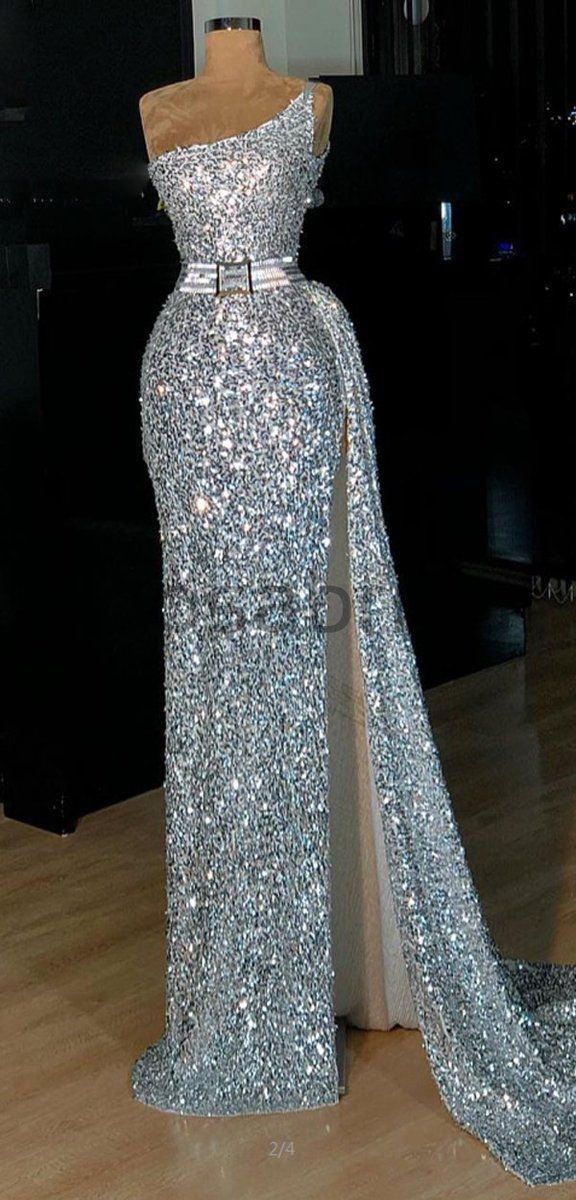 Sparkly Sequin Shining One Shoulder Silver Fashion Unique Modest Prom Dresses PD1669 Sparkly Sequin Shining One Shoulder Silver Fashion Unique Modest Prom Dresses PD1669 - Prom dresses modest, Elegant prom dresses, Gala dresses, Prom dresses, Dressy dresses, Sparkly prom dresses - Sparkly Sequin Shining One Shoulder Silver Fashion Unique Modest Prom Dresses PD1669 The dress can be custom made in size and color for free, lace up back or zipper back are all available  Description 1, Material sequin ,elastic satin  2, Color picture color or other colors, there are many colors available, please Co