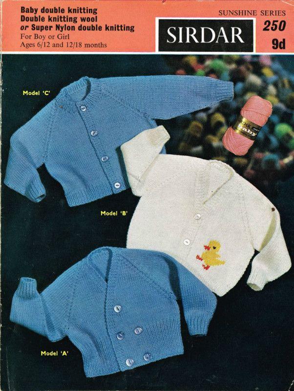 bad08f249038ff Sirdar sunshine 250 cardigans baby vintage knitting pattern