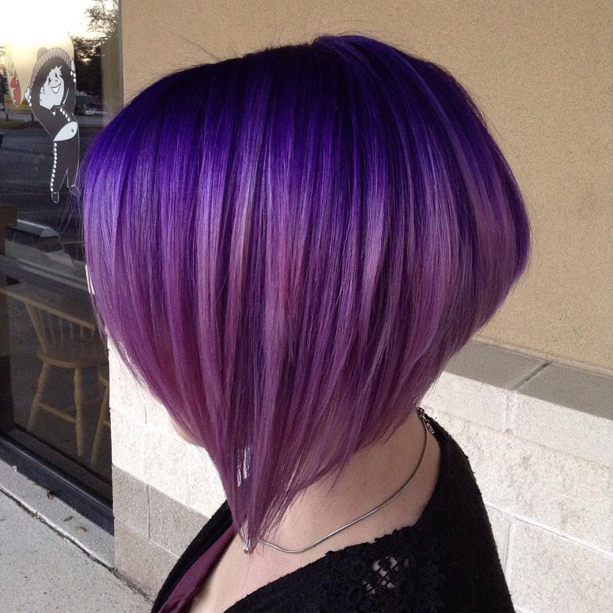 Love This Gorgeous Elevated Bob And Purple Color Design By Cyrell