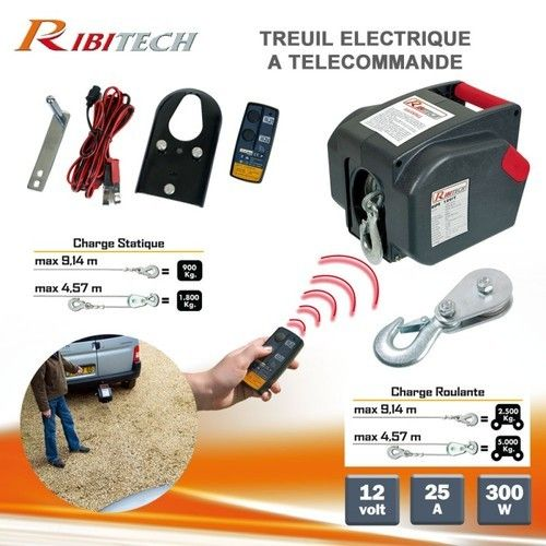 Treuil Electrique 12v Telecommande Treuil Telecommande