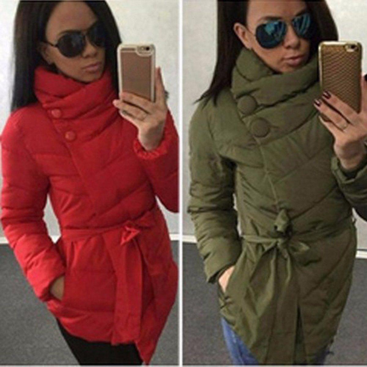 aaa63c1e70bce  14.89 - Women Winter Warm Outerwear Down Cotton Parka Jacket Coat Hooded  Collar  ebay