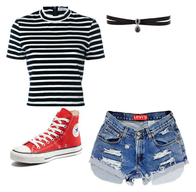 """""""Casual"""" by seyoonnie ❤ liked on Polyvore featuring Fallon, T By Alexander Wang and Converse"""