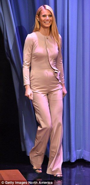 Gwynnie's now infamous pale pink Elie Saab jumpsuit  cost £1,000 and drew comparisons to a 'naked molerat'