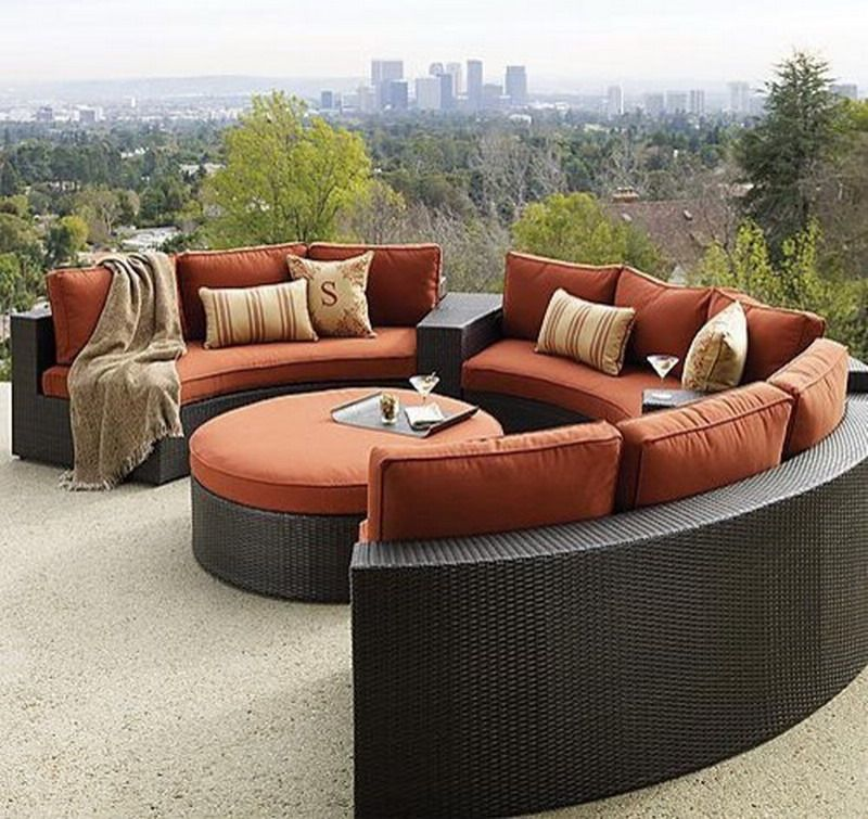 Photo Of Outside Patio Furniture Ideas Rounded Outdoor Patio