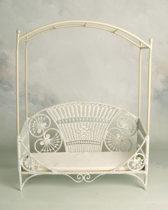 Baby Bed With Removable Canopy Wicker By Design Photo Props