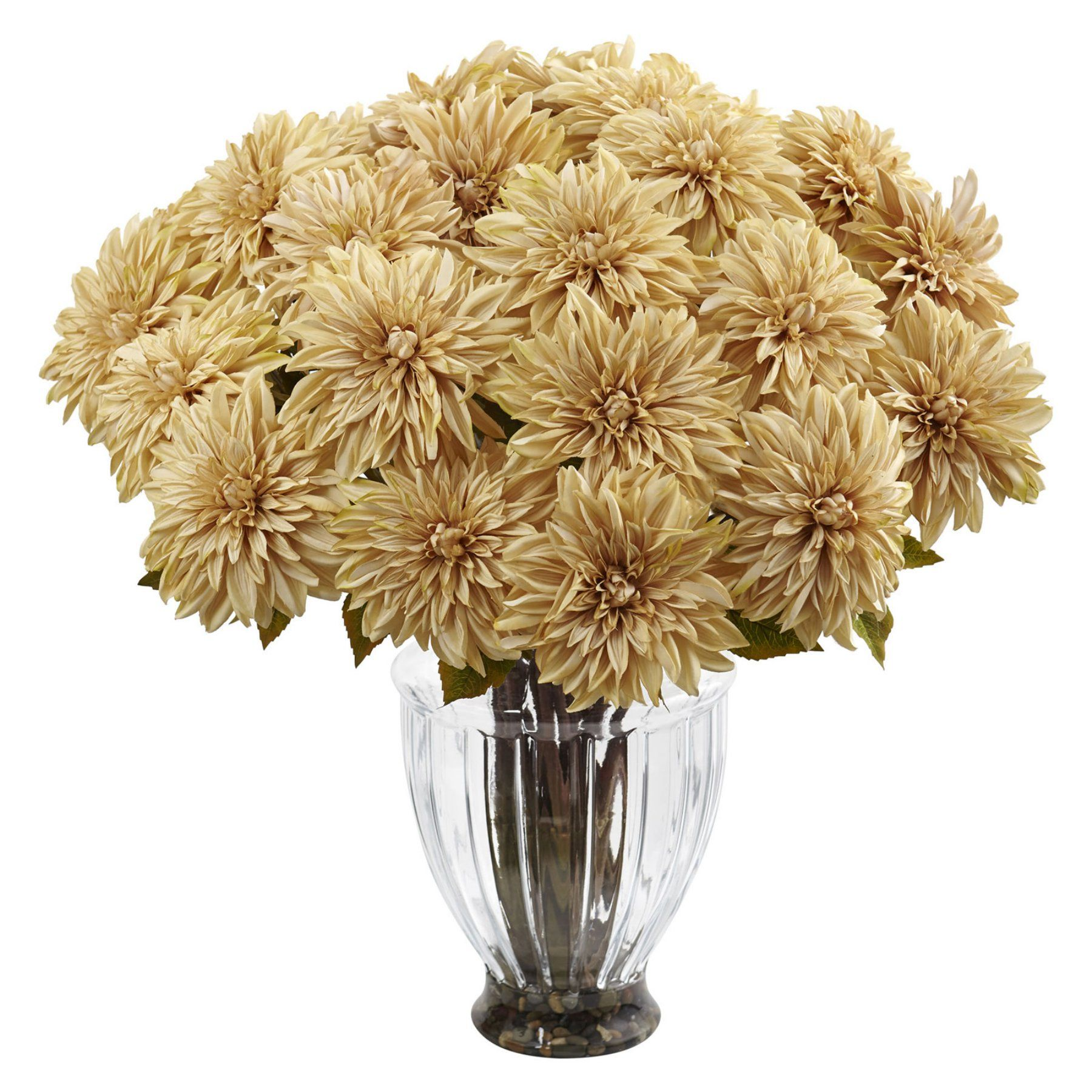 Nearly Natural Silk Dahlia Floral Arrangement 1419 Cr Products
