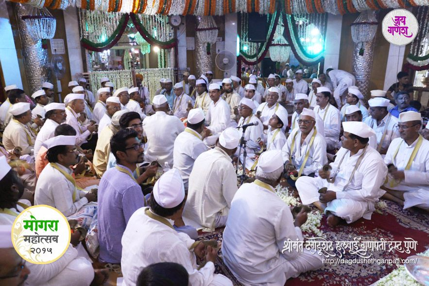 Dagdusheth Ganpati Celebrated Mogra Festival  on 9th April 2015