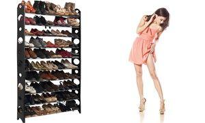 Groupon Range Chaussures Modulable Pour 30 Ou 50 Paires Option Housse Des Meuble Chaussure Rangement Chaussures Rangement