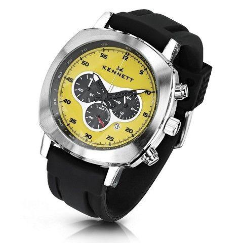 Kennett Challenger Yellow Chronograph Silicone Strap Watch