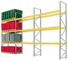 Rack à palettes pour stocker de lourdes charges palettisés sur 2 / 3 niveaux ou plus. Retrouvez nos solutions de stockage lourd sur http://www.setam.com/rayonnage-metallique-lourd,F201S203.html